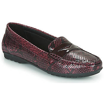 Zapatos Mujer Mocasín Geox D ELIDIA Burdeo