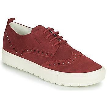 Zapatos Mujer Zapatillas bajas Geox D BREEDA Burdeo