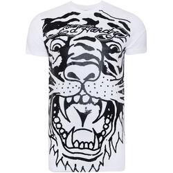 textil Hombre Camisetas manga corta Ed Hardy - Big-tiger t-shirt Blanco