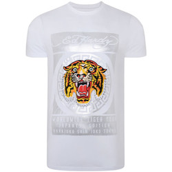 textil Hombre Camisetas manga corta Ed Hardy - Tile-roar t-shirt Blanco
