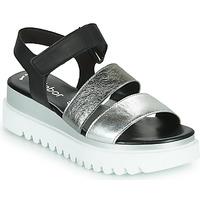 Zapatos Mujer Sandalias Gabor 6461061 Negro / Blanco / Plata