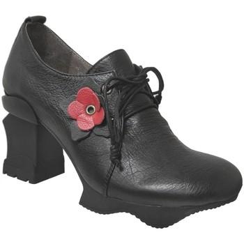 Zapatos Mujer Derbie Laura Vita Arcmanceo 34 Negro/rojo cuero