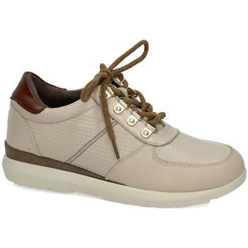 Zapatos Mujer Zapatillas bajas Khloe Marin Deportivos de piel HIELO