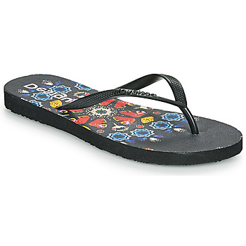 Zapatos Mujer Chanclas Desigual FLIP FLOP BUTTERFLY Negro