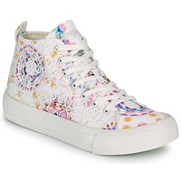 Zapatos Mujer Zapatillas altas Desigual BETA LACE TIE DYE Blanco