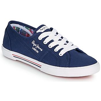 Zapatos Mujer Zapatillas bajas Pepe jeans ABERLADY ECOBASS Marino