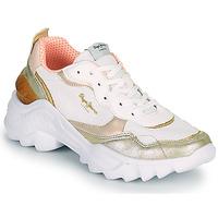 Zapatos Mujer Zapatillas bajas Pepe jeans ECCLES TOP Blanco / Oro