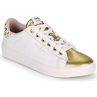 Zapatos Mujer Zapatillas bajas Pepe jeans KIOTO FIRE Blanco / Oro