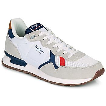 Zapatos Hombre Zapatillas bajas Pepe jeans BRITT MAN BASIC Blanco / Beige