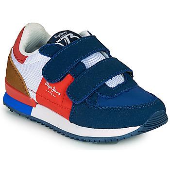 Zapatos Niño Zapatillas bajas Pepe jeans SYDNEY TREND BOY KIDS SS21 Azul / Rojo