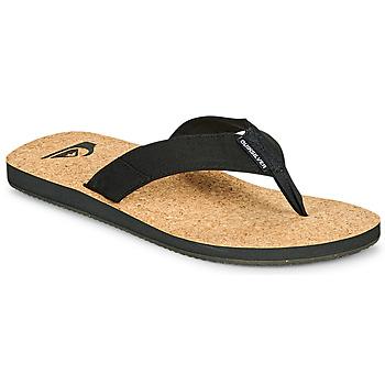 Zapatos Hombre Chanclas Quiksilver MOLOKAI ABYSS NATURAL Negro