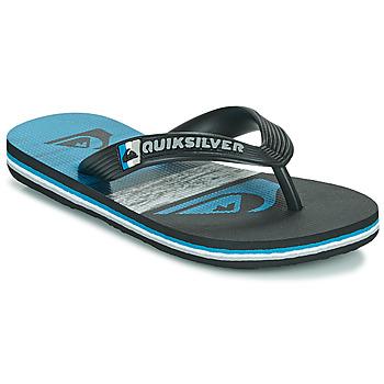 Zapatos Niños Chanclas Quiksilver MOLOKAI PANEL YOUTH Negro / Azul