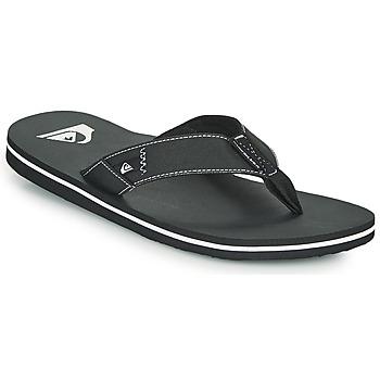 Zapatos Hombre Chanclas Quiksilver MOLOKAI ABYSS Negro