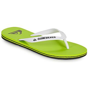 Zapatos Hombre Chanclas Quiksilver MOLOKAI Verde / Blanco