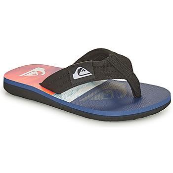 Zapatos Niños Chanclas Quiksilver MOLOKAI LAYBACK YOUTH Azul / Naranja / Negro