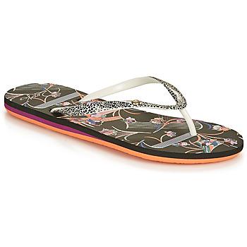 Zapatos Mujer Chanclas Roxy PORTOFINO III Negro / Print