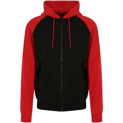 textil Hombre Sudaderas Awdis JH063 Negro Jet/Rojo Fuego