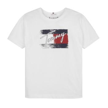 textil Niña Camisetas manga corta Tommy Hilfiger MONCHE Blanco