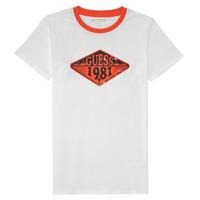 textil Niño Camisetas manga corta Guess L1GI09-K8HM0-TWHT Blanco