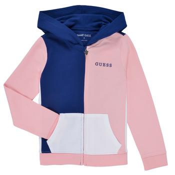 textil Niña Sudaderas Guess K1RQ00-KA6R0-F672 Blanco / Rosa