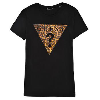 textil Niña Camisetas manga corta Guess J1RI27-K9MV0-P954 Negro