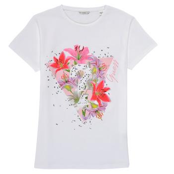 textil Niña Camisetas manga corta Guess J1RI24-K6YW1-TWHT Blanco