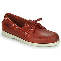 Zapatos Hombre Zapatos náuticos Sebago PORTLAND WAXED Rojo