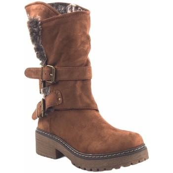 Zapatos Mujer Botas de caña baja Olivina Bota señora BEBY 19030 cuero Marrón