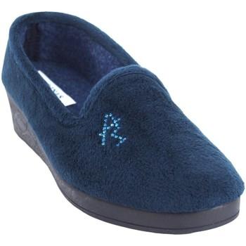 Zapatos Mujer Pantuflas Andinas Ir por casa señora  9270-26 azul Azul