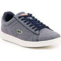 Zapatos Mujer Zapatillas bajas Lacoste Carnaby Evo 218 3 SPW 7-35SPW0018B98 azul marino, blanco