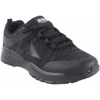Zapatos Mujer Zapatillas bajas B&w Zapato señora  28113 negro Negro