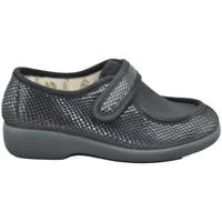 Zapatos Mujer Pantuflas Garzon 3070 PITON NEGRO NEGRO