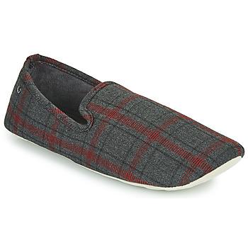 Zapatos Hombre Pantuflas Isotoner FILOMENA Gris / Rojo