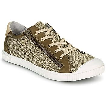 Zapatos Mujer Zapatillas bajas Pataugas BOMY F2G Oro / Kaki