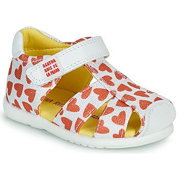 Zapatos Niña Sandalias Agatha Ruiz de la Prada HAPPY Blanco / Rojo