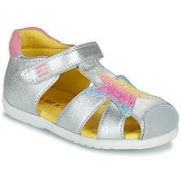 Zapatos Niña Sandalias Agatha Ruiz de la Prada HAPPY Plata