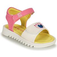 Zapatos Niña Sandalias Agatha Ruiz de la Prada SMILEY Blanco / Rosa
