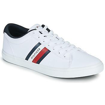 Zapatos Hombre Zapatillas bajas Tommy Hilfiger ESSENTIAL STRIPES DETAIL SNEAKER Blanco