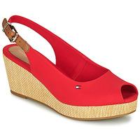 Zapatos Mujer Sandalias Tommy Hilfiger ICONIC ELBA SLING BACK WEDGE Naranja