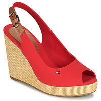 Zapatos Mujer Sandalias Tommy Hilfiger ICONIC ELENA SLING BACK WEDGE Naranja