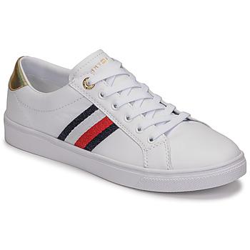 Zapatos Mujer Zapatillas bajas Tommy Hilfiger TH CORPORATE CUPSOLE SNEAKER Blanco