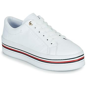 Zapatos Mujer Zapatillas bajas Tommy Hilfiger CORPORATE FLATFORM CUPSOLE Blanco