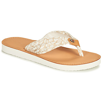 Zapatos Mujer Chanclas Tommy Hilfiger LEATHER FOOTBED TH BEACH SANDAL Blanco