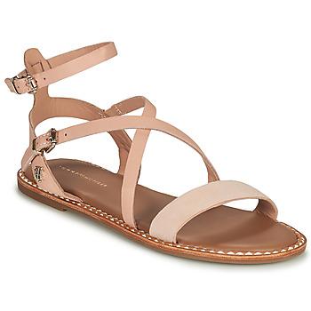 Zapatos Mujer Sandalias Tommy Hilfiger ESSENTIAL TOMMY FLAT SANDAL Cognac