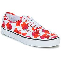 Zapatos Mujer Zapatillas bajas Vans AUTHENTIC Blanco / Rojo