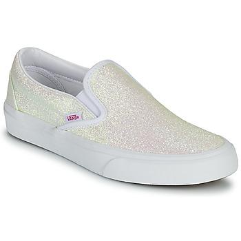 Zapatos Mujer Slip on Vans CLASSIC SLIP ON Uv / Glitter / Beige / Rosa