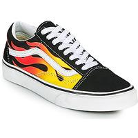 Zapatos Zapatillas bajas Vans OLD SKOOL Negro / Naranja