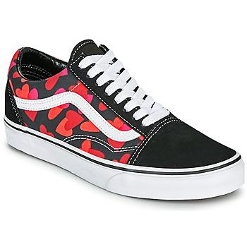 Zapatos Mujer Zapatillas bajas Vans OLD SKOOL Negro / Rojo