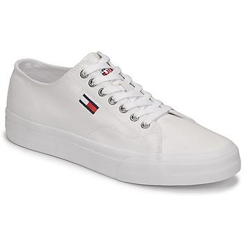 Zapatos Hombre Zapatillas bajas Tommy Jeans LONG LACE UP VULC Blanco