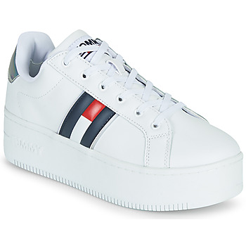 Zapatos Mujer Zapatillas bajas Tommy Jeans IRIDESCENT ICONIC SNEAKER Blanco